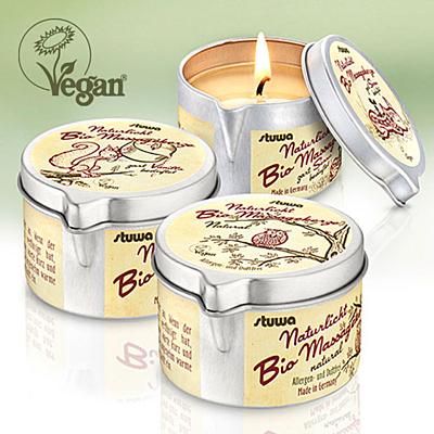 Bio masážní svíčka, vůně Vanilla, 100 ml