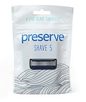 Náhradní čepele Preserve Shave 5