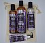 LEVANDULOVÁ SUPERSADA: 2 x 250 ml šampon a kondicionér + 1 x 400 ml sprchový gel Levandule a Pelargónie + 1 x 150 ml levandulové tělové mléko + pytlík