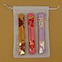 Dárková sada parfémů pro ženy BESTSELLERS: 3 x 10 ml roll on French Lilac + Hawaiian Ruby Guava + Tuscan Blood Orange + lněný pytlík