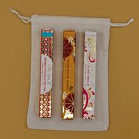 Dárková sada parfémů pro ženy SLADKÉ POKUŠENÍ: 3 x 10 ml roll on Indian Coconut Nectar + Tuscan Blood Orange + Island Vanilla + lněný pytlík