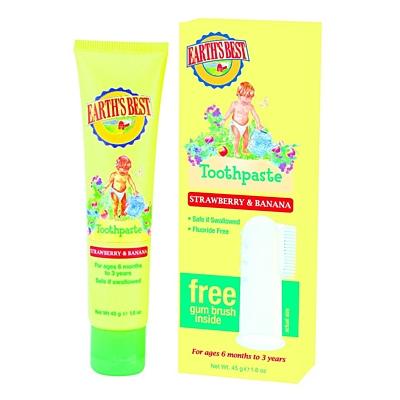 Jäson Earth's Best Zubní pasta pro děti od 6 měsíců se zubním kartáčkem, 45 g