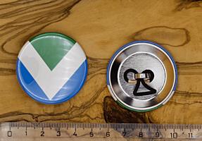 Vegan Flag placka do vlasů, 44 mm