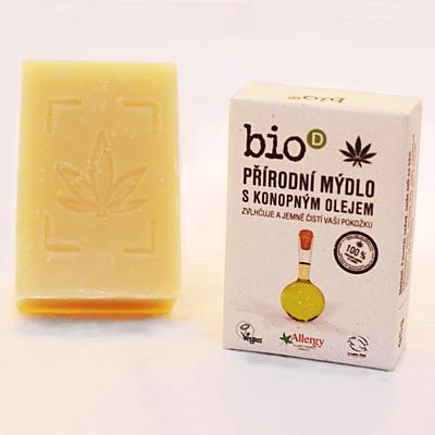 Přírodní mýdlo s konopným olejem, 95 g