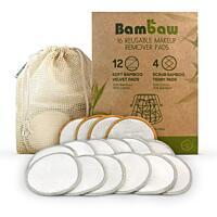 Odličovací tampóny 7,5 cm bambus/bavlna v sáčku, 16 ks