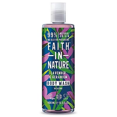 Přírodní sprchový gel a pěna do koupele Levandule & Pelargónie, 400 ml