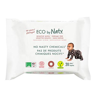 Eco by Naty vlhčené ubrousky Naty bez vůně