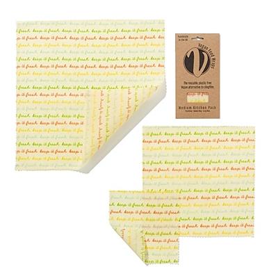 Voskovaný papír, sada medium, 3 ks