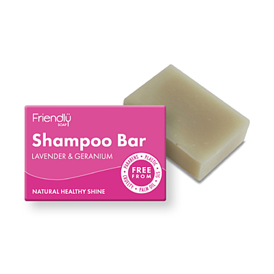 Friendly Soap přírodní mýdlo na vlasy - Levandule a pelargónie, 95 g