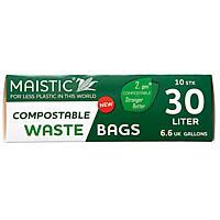 MAISTIC Kompostovatelné pytle do koše 30 l, 10 ks