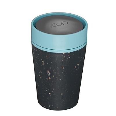 Kelímek rCUP černý/tyrkysový Blue life, 227 ml
