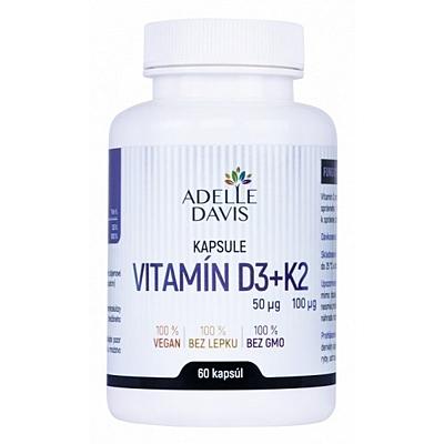 Vitamín D3 2000 IU + K2 MK-7 100 µg, 60 kapslí
