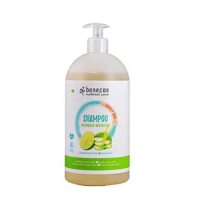 benecos Šampon rodinný Freshness adventures Limeta a Aloe Vera, 950 ml