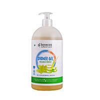 benecos Sprchový gel rodinný Wellness moment Aloe vera a Meduňka, 950 ml