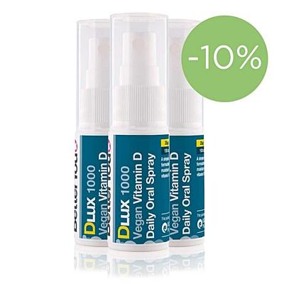 DLux 1000 IU Vitamin D3 ve spreji 15ml, sada 3 ks se slevou 10 %