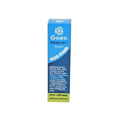 GAEA Vitamin D3+K2 MK-7 kapky 600 kapek, 20 ml 2