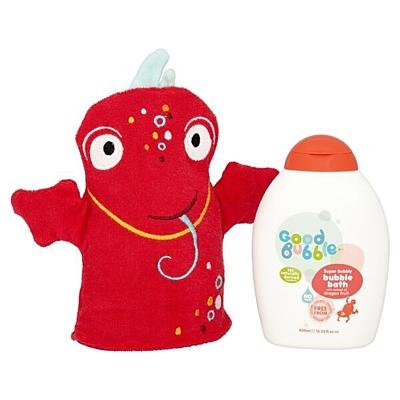 Good Bubble Dětská pěna do koupele Dračí ovoce a žínka Dexter Dragon, 400 ml