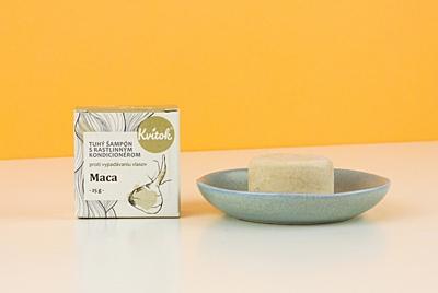 Kvítok Tuhý Šampon s Kondicionérem - Maca (proti vypadávání vlasů)