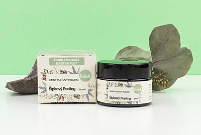 Kvítok Šípkový Peeling pro Mastnou / Problematickou Pleť, 30 ml