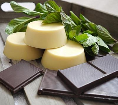 Kakao a máta - masážní kostka 2