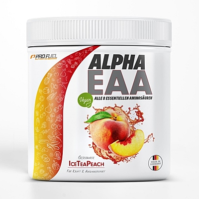 ProFuel ALPHA.EAA 8 esenciálních aminokyselin Ledový čaj broskev, 462 g