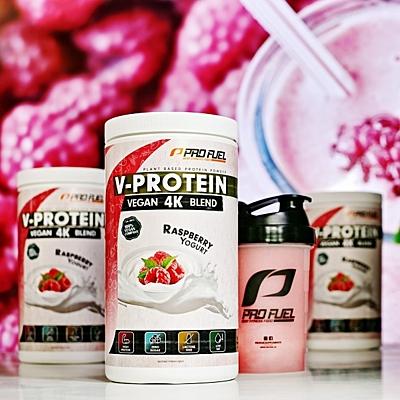 ProFuel V-PROTEIN 4K BLEND Malinový jogurt, 750 g 2