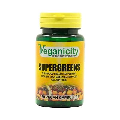 SuperGreens - Superfoods mix, 60 kapslí
