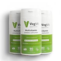 VegVit. Multivitamín s minerály, 90 tablet, sada 3 ks s dopravou zdarma