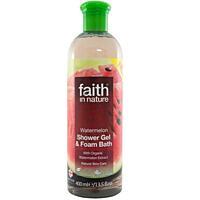 Přírodní sprchový gel a pěna do koupele BIO Vodní meloun,  400 ml