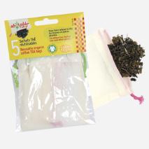 Ecodis Sáčky na čaj z biobavlny 9x9 cm, 5 ks 2