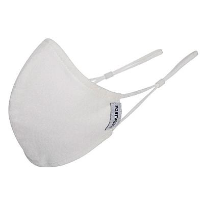 Ochranná dvojvrstvá rouška z bavlny bílá, 1 ks