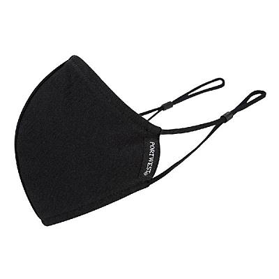 Ochranná dvojvrstvá rouška z bavlny černá, 1 ks